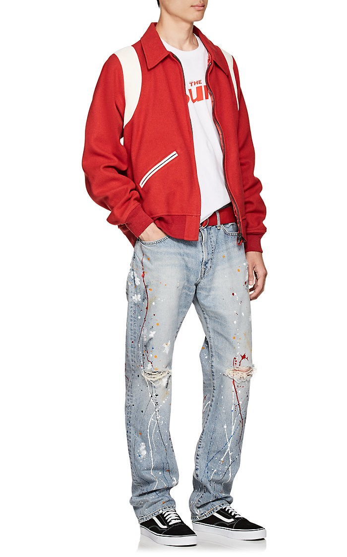 Edwin Paint-Splatter Straight Jeans