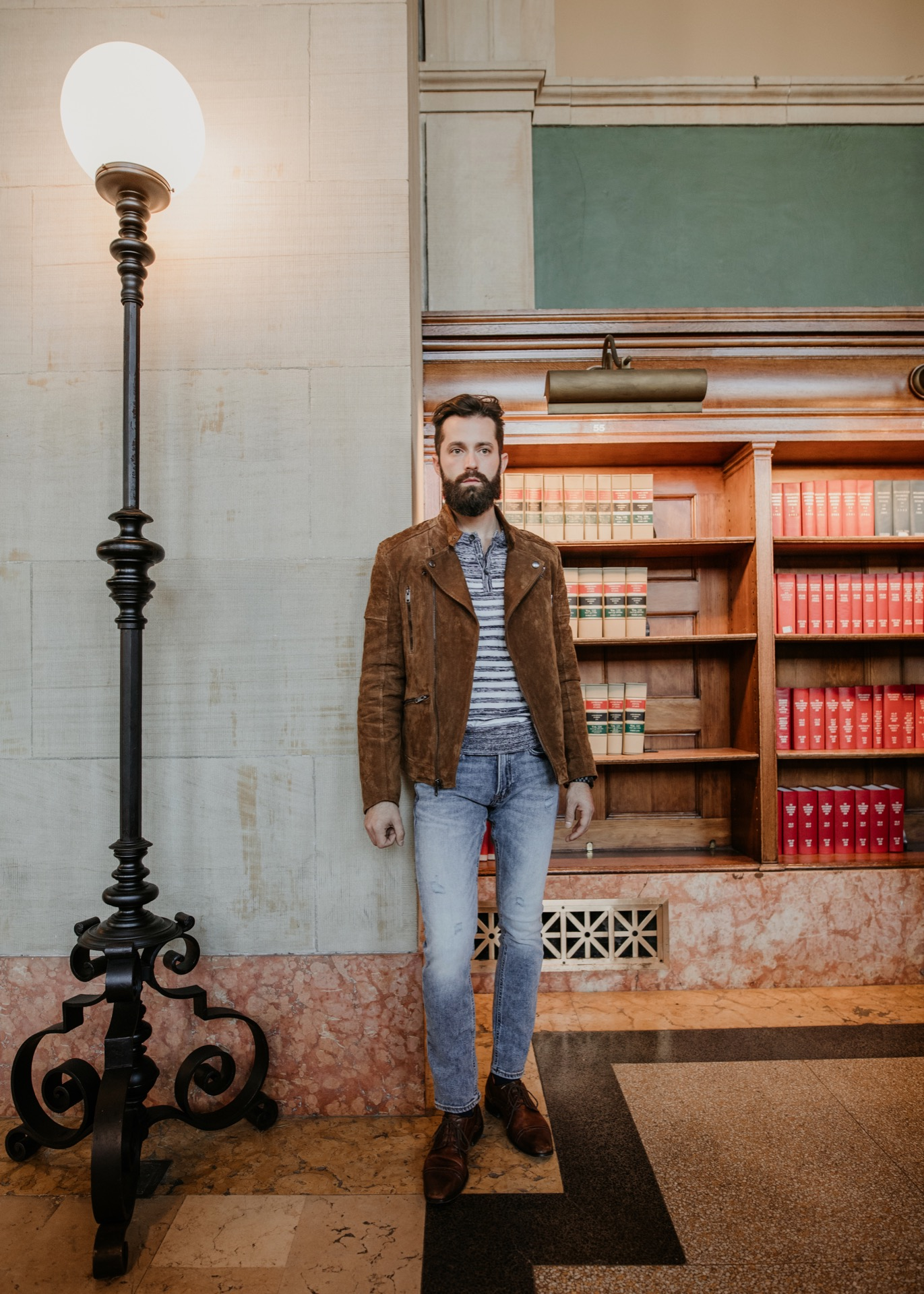 Smart Casual Alternative Men's Workwear Look Styled by Michael Checkers for Express