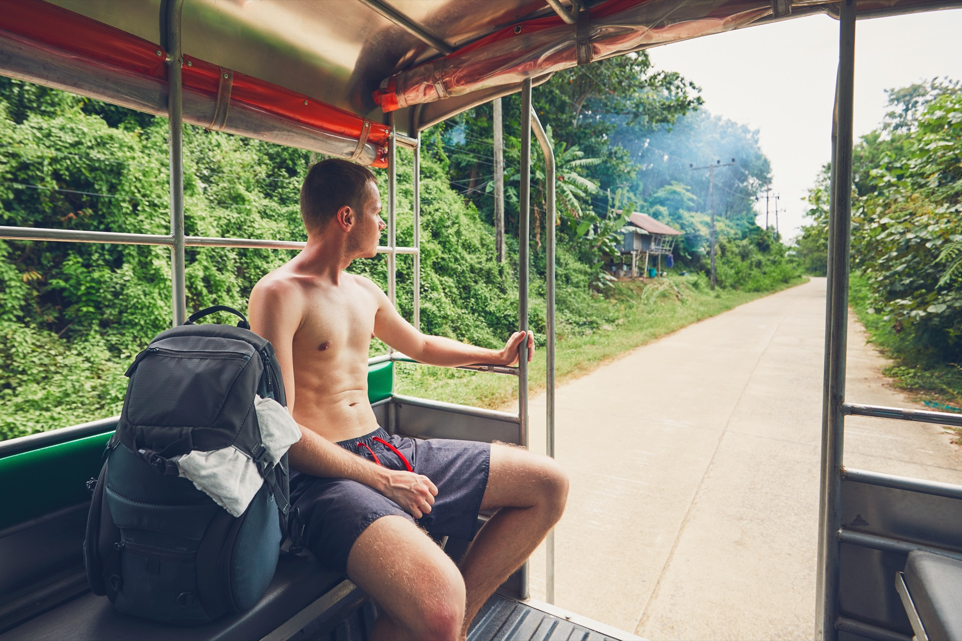 backpacking through Thailand in the jungle