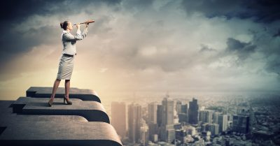 Businesswomen overlooking opportunities