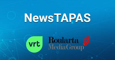 NewsTAPAS VRT logo Roularta Media Group