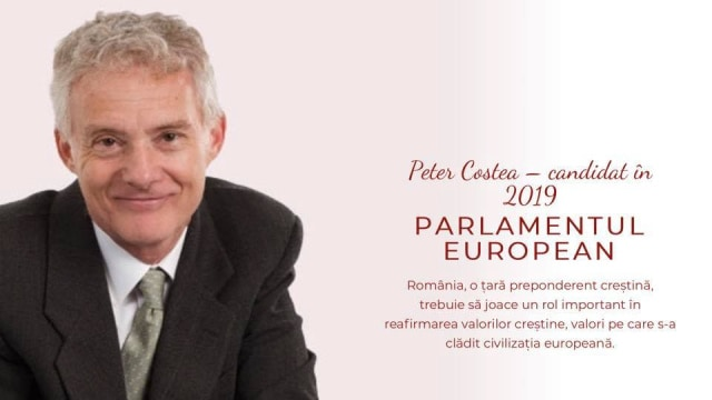 Peter Costea candidează la alegeri în Parlamentul European 2019