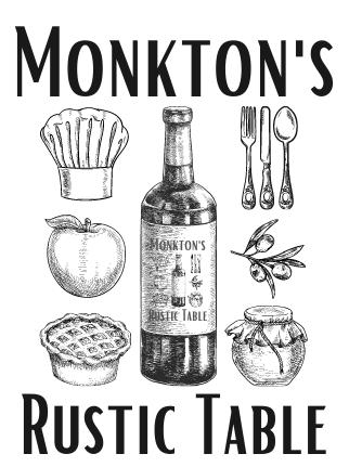 monkton's rustic table logo