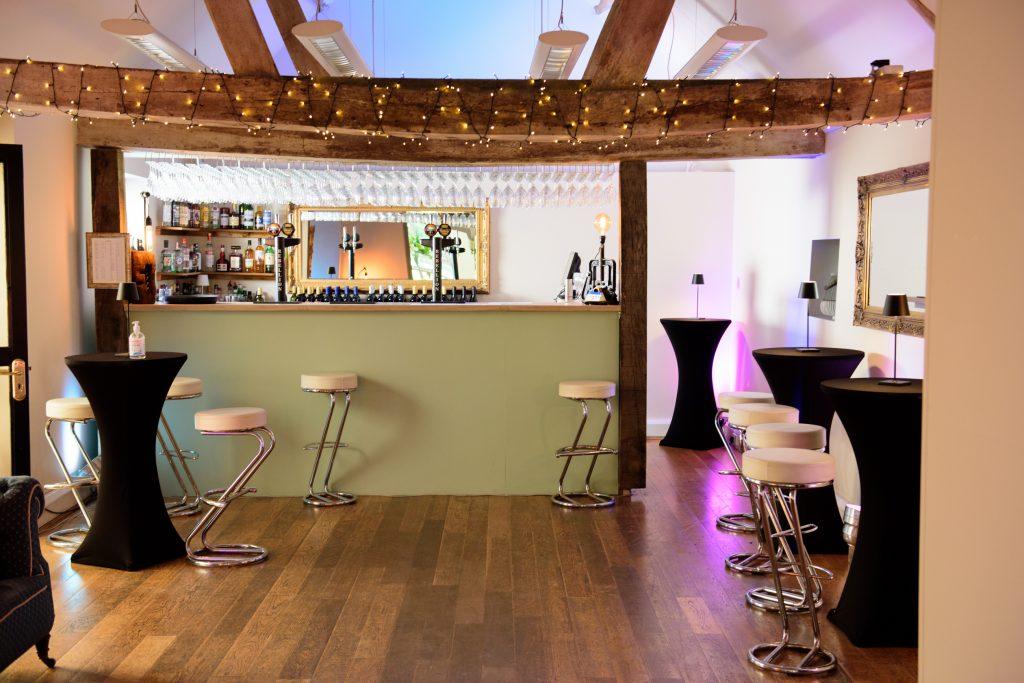Monkton's Bar in the barn