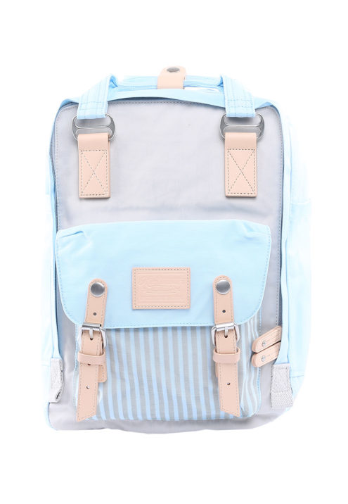 Stylish Laptop Backpack - Buttercup PINSTRIPE SKY BLUE | Himawari Asia