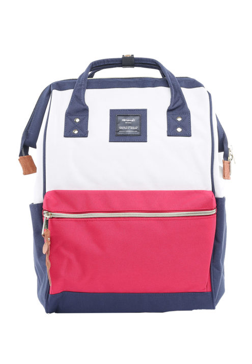 Minimalist Travel Backpack - Holly WHITE, RED & NAVY | Himawari Asia