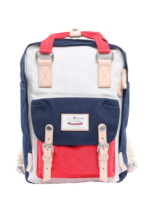 Stylish Laptop Backpack - Buttercup RED/WHITE/BLUE | Himawari Asia