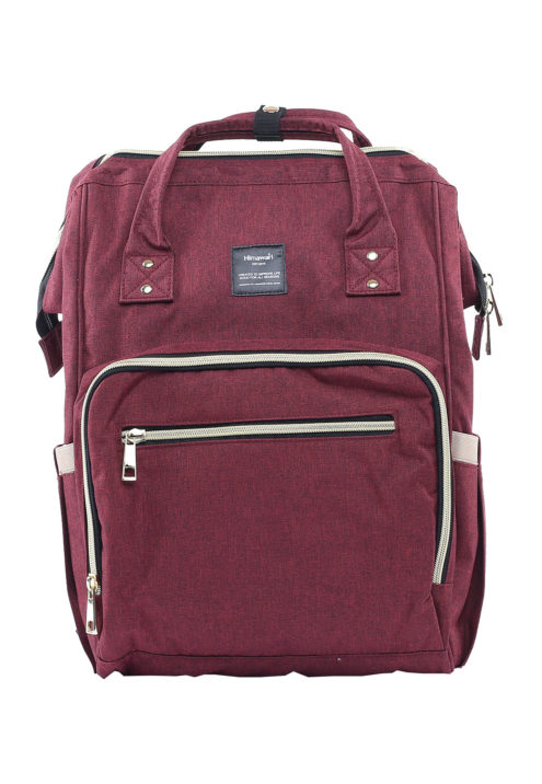 Multi Pocket Backpack Camelia MAROON | Himawari Asia