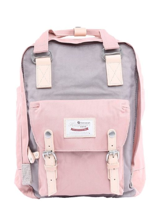 Stylish Laptop Backpack - Buttercup SMOKE GREY PINK | Himawari Asia