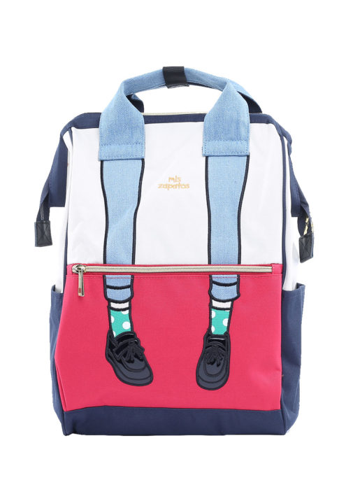Stylish Backpack College - Zapatos RED WHITE | Himawari Asia