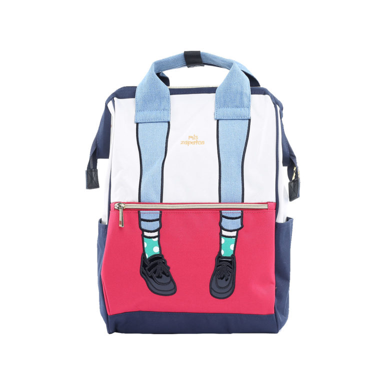 Stylish Backpack College - Zapatos RED WHITE   Himawari Asia