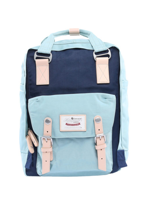 Stylish Laptop Backpack - ButtercupMINT/NAVY PINK | Himawari Asia