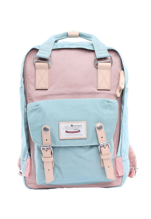 Stylish Laptop Backpack - Buttercup EMERALD/CUTE PINK | Himawari Asia