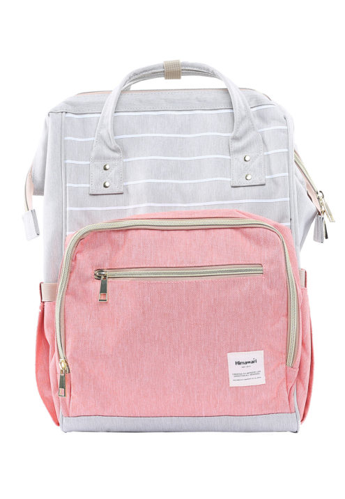 Multi Pocket Backpack Camelia SALMON/GREY | Himawari Asia