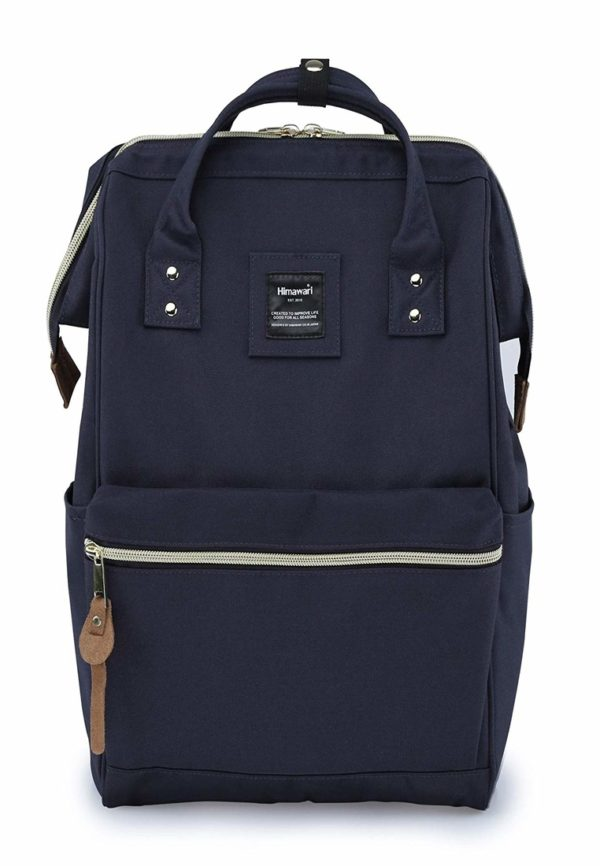 USB Charger Backpack - Holly NAVY BLUE | Himawari Asia
