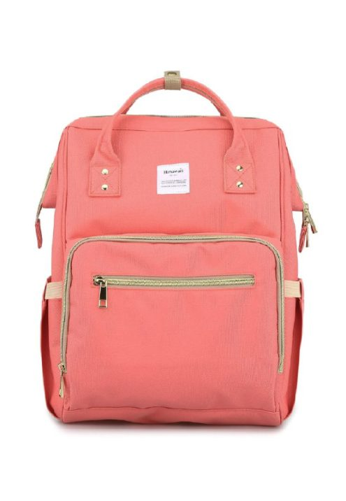 Multi Pocket Backpack Camelia SALMON | Himawari Asia