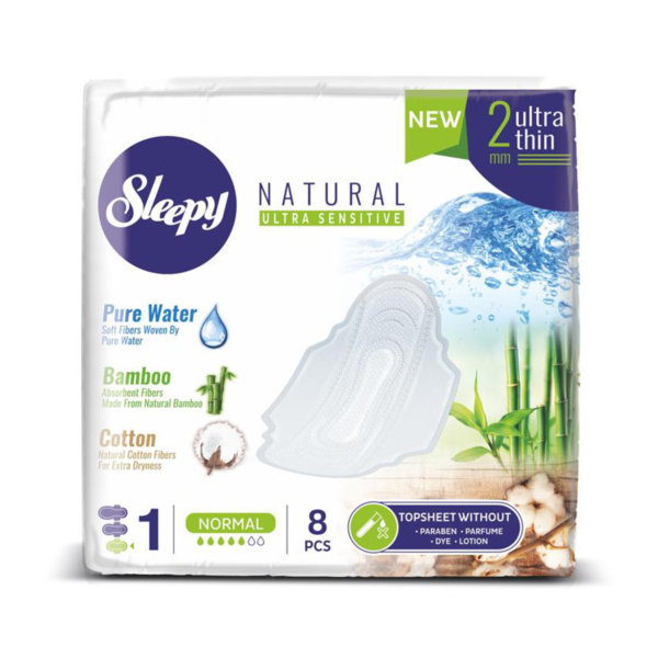 Aisyah Sleepy Sensitive Sanitary Pad Standard Normal ( 8 Pads 24cm )