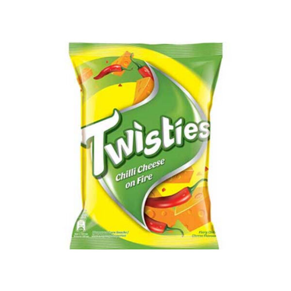 TWISTIES CHILLI CHEESE ON FIRE 65G