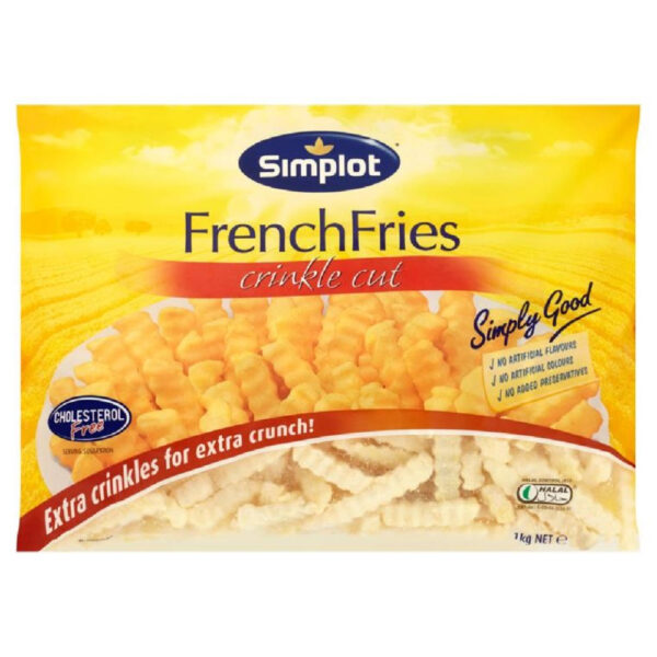 Simplot Crinkle Cut French Fries 1Kg