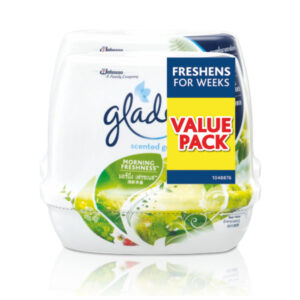 GLADE HOME SCENTED GEL 180G TWINPACK - MORNING FRESHNESS