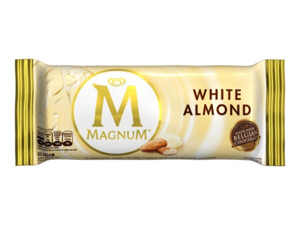 Wall's Magnum White Almond Amber 63Gm