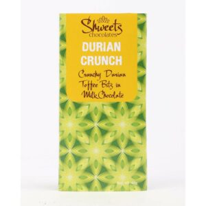 Shweets Chocolates Bar Crunchy Durian Toffee Bits In Milk Chocolate 45G