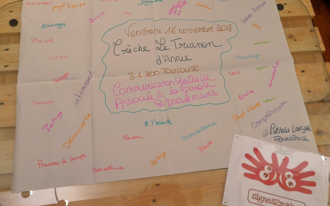 Formation Communication Gestuelle Signes2mains- Crèche Toulouse