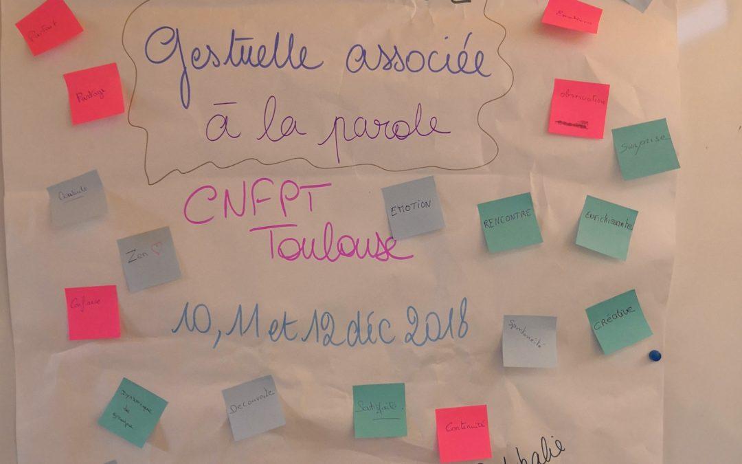 Cnfpt Toulouse : Communication gestuelle associée à la parole 3 jours !