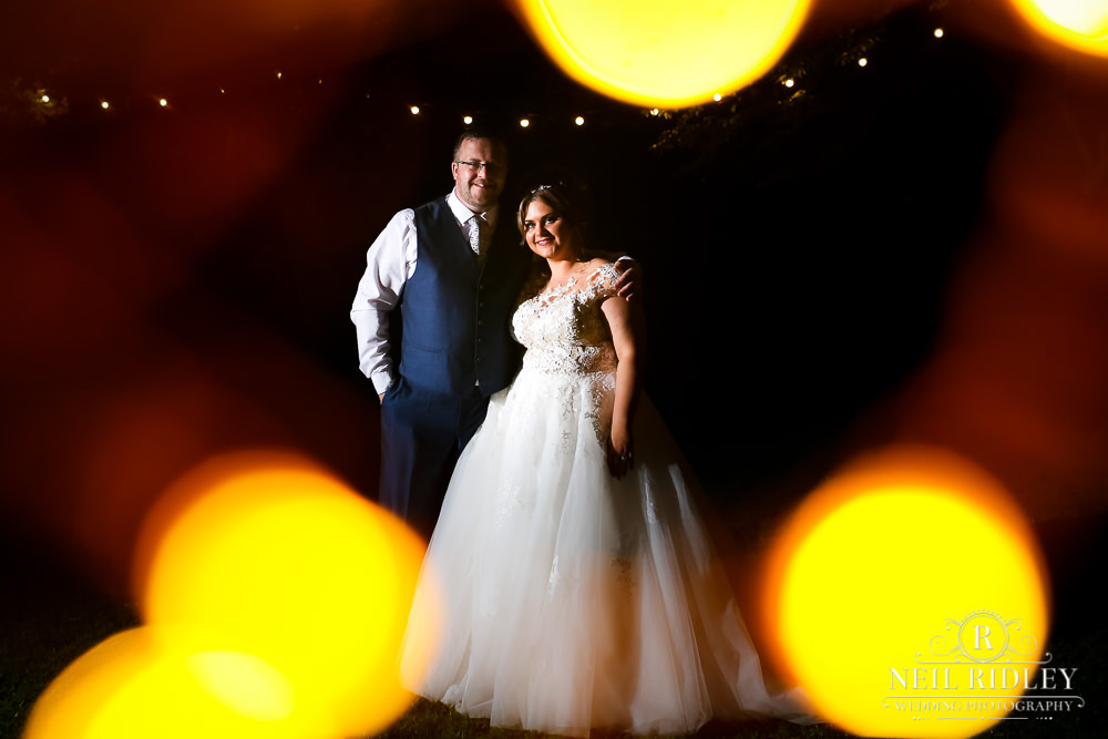 Bartle Hall Wedding Photographer Evening Bride and Groom Portrait