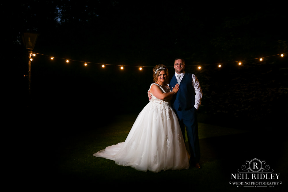 Bartle Hall Wedding Photographer Evening image of bride and groom