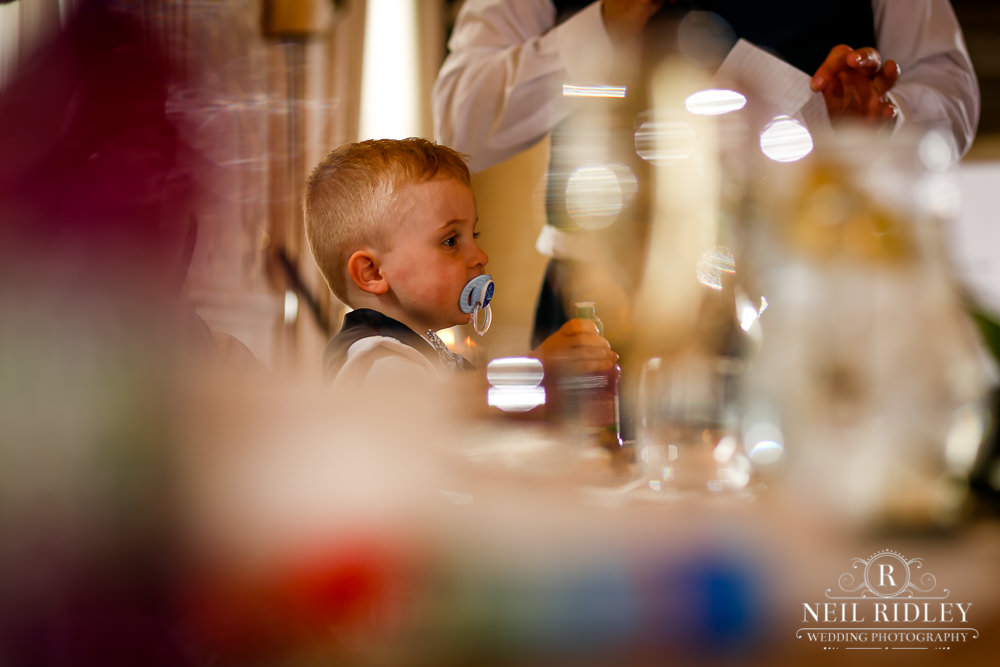 Bartle Hall Wedding Photographer Child at the table