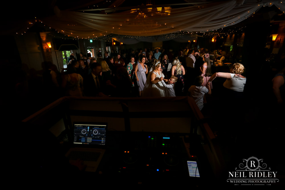 Bartle Hall Wedding Photographer view from DJ Box