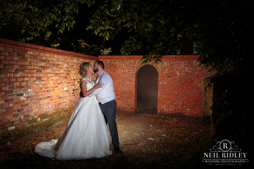 The Villa Hotel Wedding Photographer Bride and Groom Evening Portrait