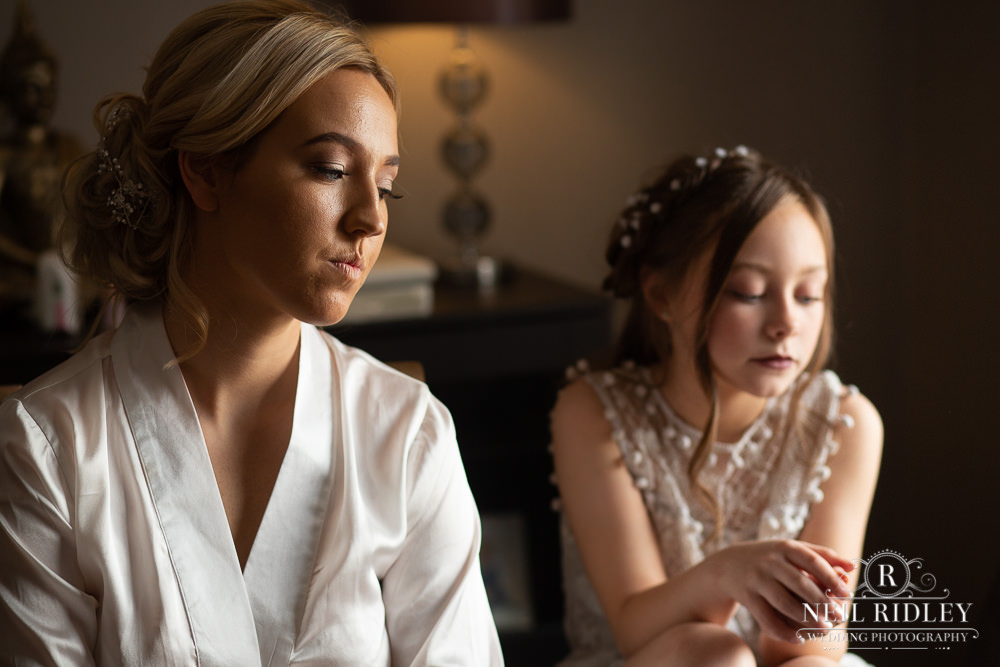 Manchester Wedding Photographer bride to be and flower girl