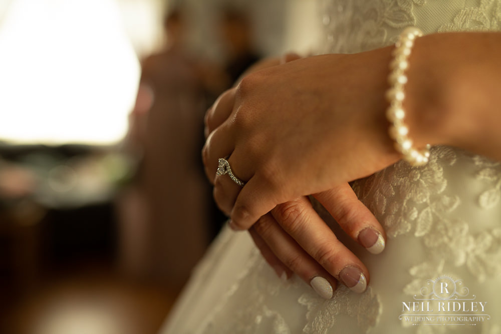 Manchester Wedding Photographer  close up of brides rings
