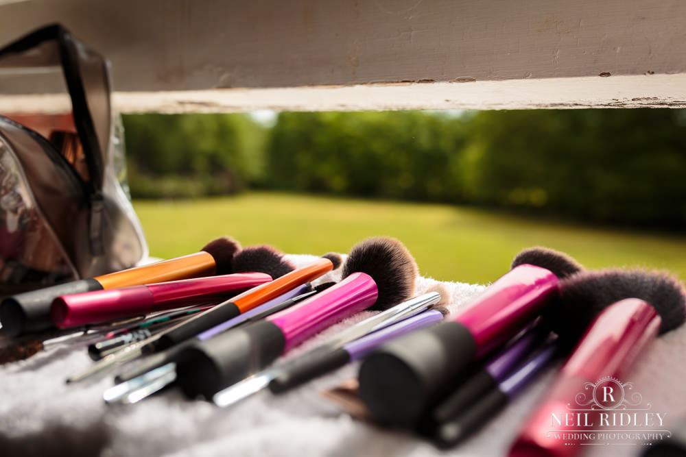 Bartle Hall Wedding Photographer Makeup Brushes