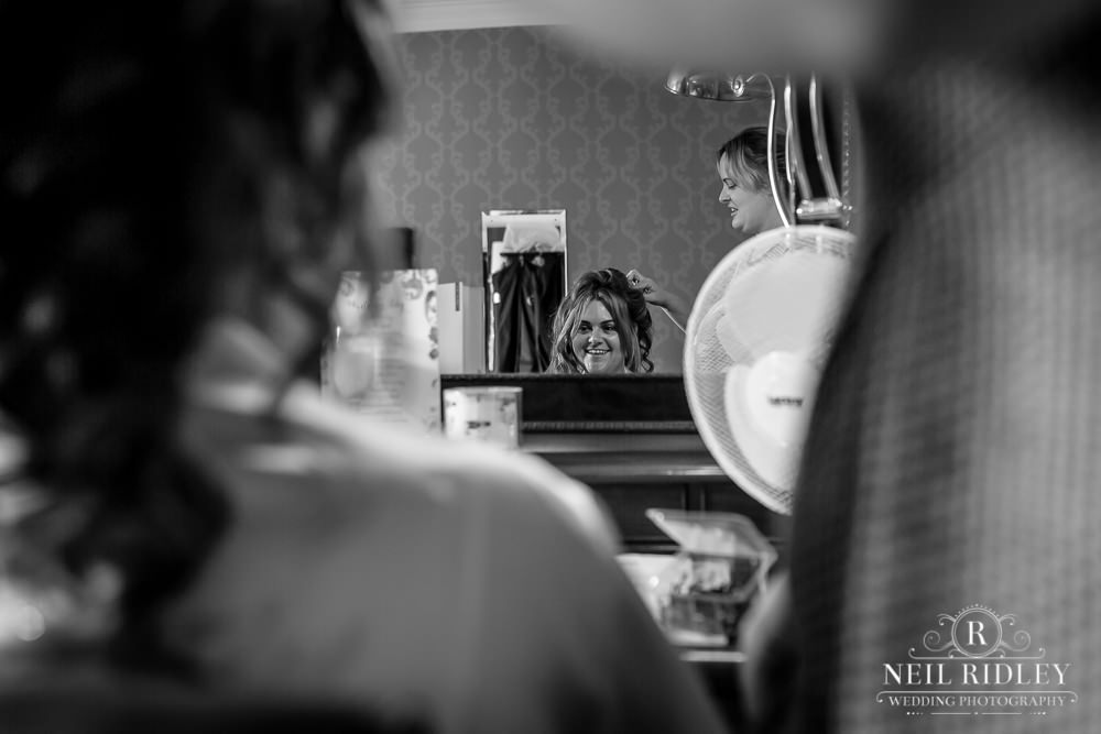 Bartle Hall Wedding Photographer Brides reflection in mirror