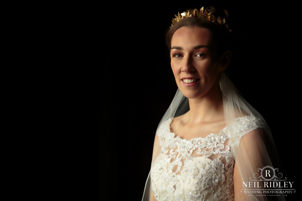 Wyresdale Park Wedding - Bridal Portrait in the house