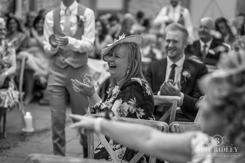 Wyresdale Park Wedding - Laughing Crowd