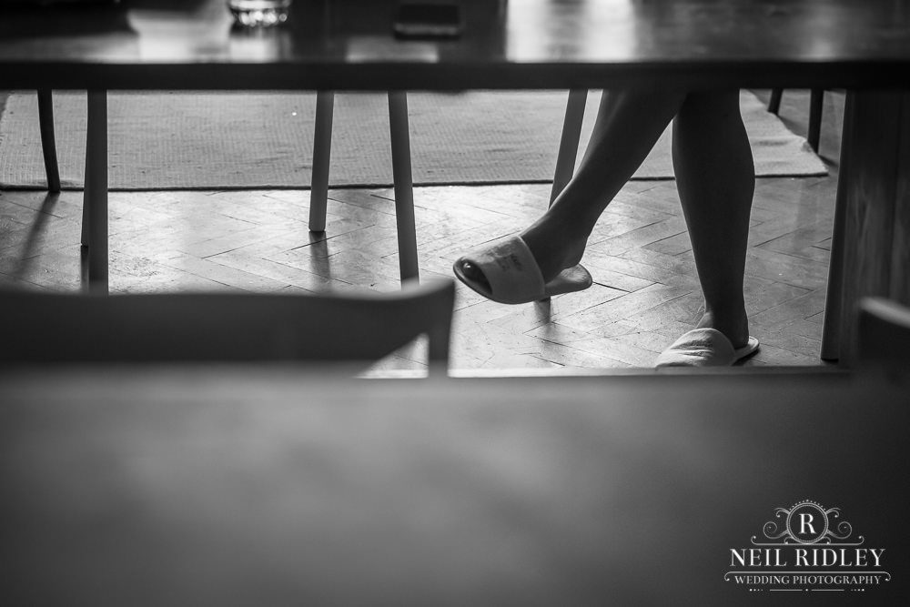 Wyresdale Park Wedding - Candid of Brides shoes