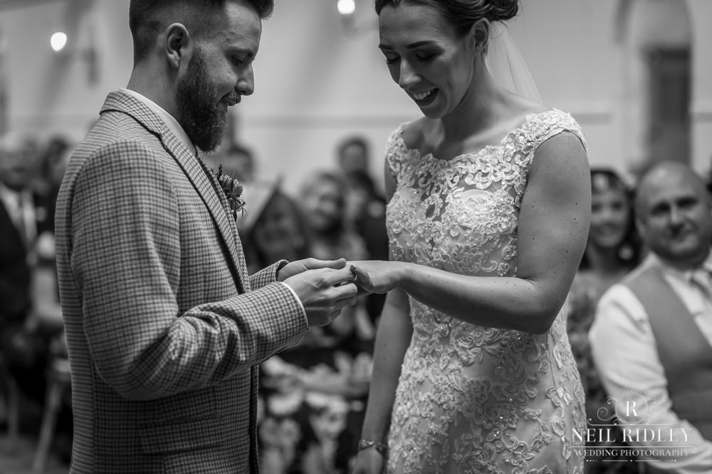 Wyresdale Park Wedding - Putting on the ring