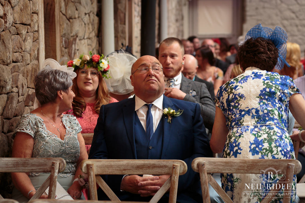 Wyresdale Park Wedding - Waiting Guest