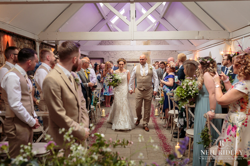 Wyresdale Park Wedding - Walking down the aisle
