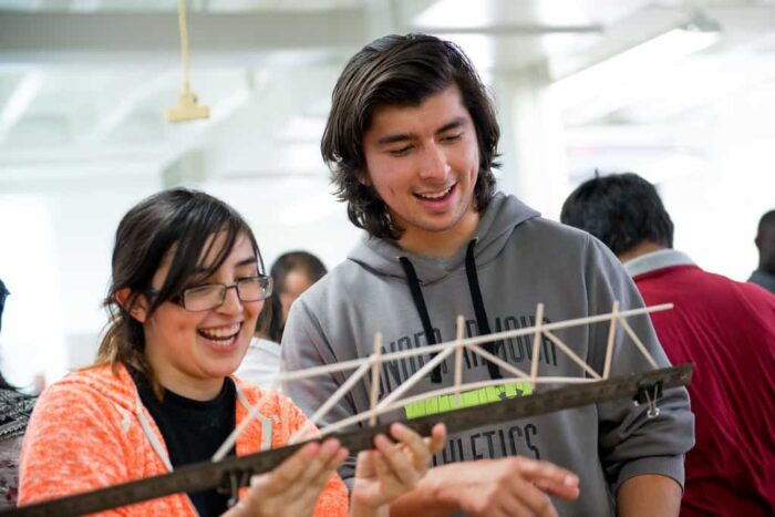 Students with engineering practical application