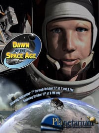 dawn of the space age show at planetarium Theater