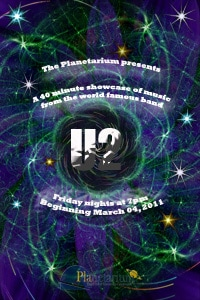 u 2 show at planetarium theater