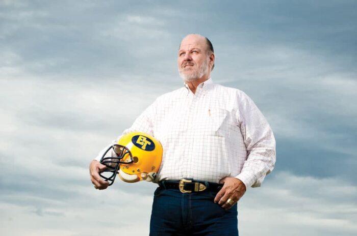 Sam Sterling with safety helmet