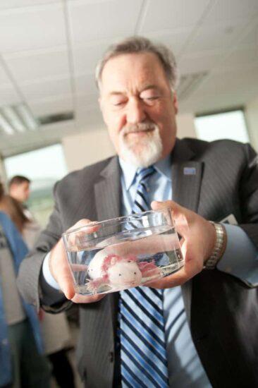 Larry Lemanski holding a fish
