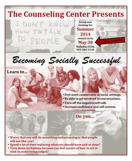 Becoming Socially Successful - May 30|Becoming Socially Successful Summer 2014