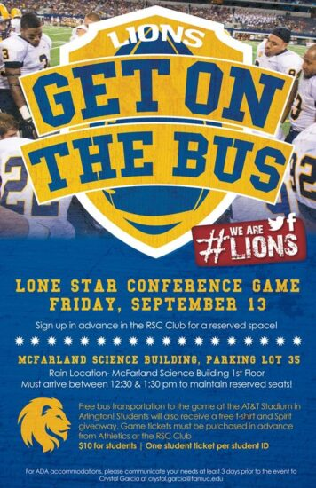 get on the Bus flyer